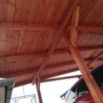 Prístrešok pre autá - Humenné, podbitie stropu tatranským profilom, hormax