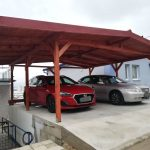 Prístrešok pre autá - Humenné, drevený podbitý strop tatranským profilom, hormax