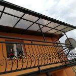 Lexanový prístrešok na balkón - Prešov. Lexanové prístrešky s konštrukciou z hliníka, ocele alebo dreva, hormax