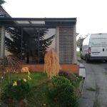 Zasklenie terasy – Košice posuvným rámovým systémom a dymovým sklom,hormax