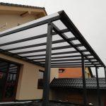 Hliníkový prístrešok Prešov so strechou z plného polykarbonátu, hormax
