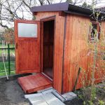 Záhradný domček s konštrukciou z KVH hranolov a plechovou krytinou,hormax